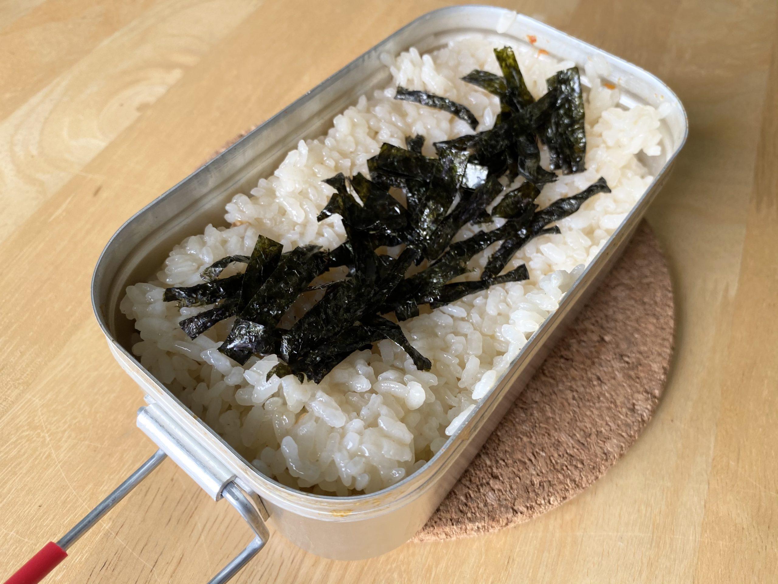 メスティン飯「シンプルだけど美味い!具なしチャーハン」のレシピ