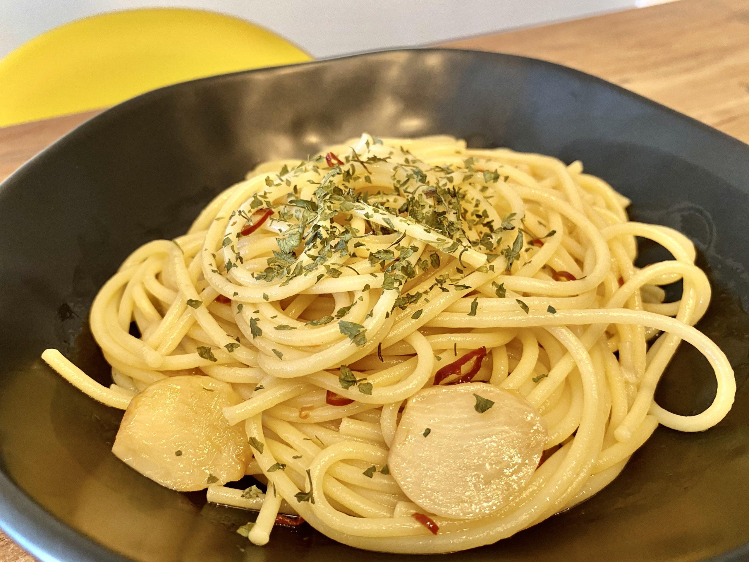 ふわっと香る!「ちょい足し醤油のペペロンチーノ」のレシピ