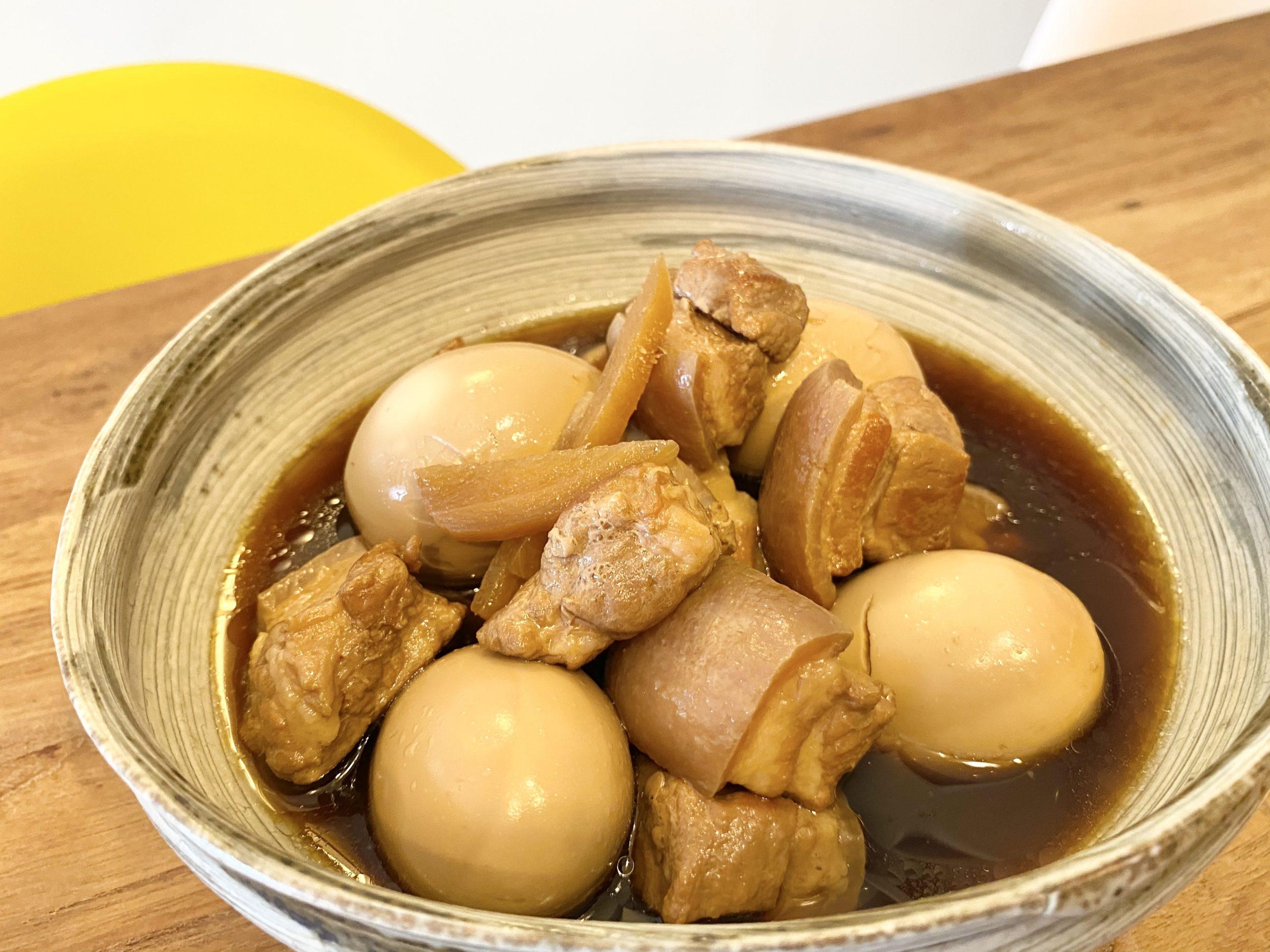 炊飯器でほったらかし調理!「やわらか~い豚の角煮と煮卵」のレシピ