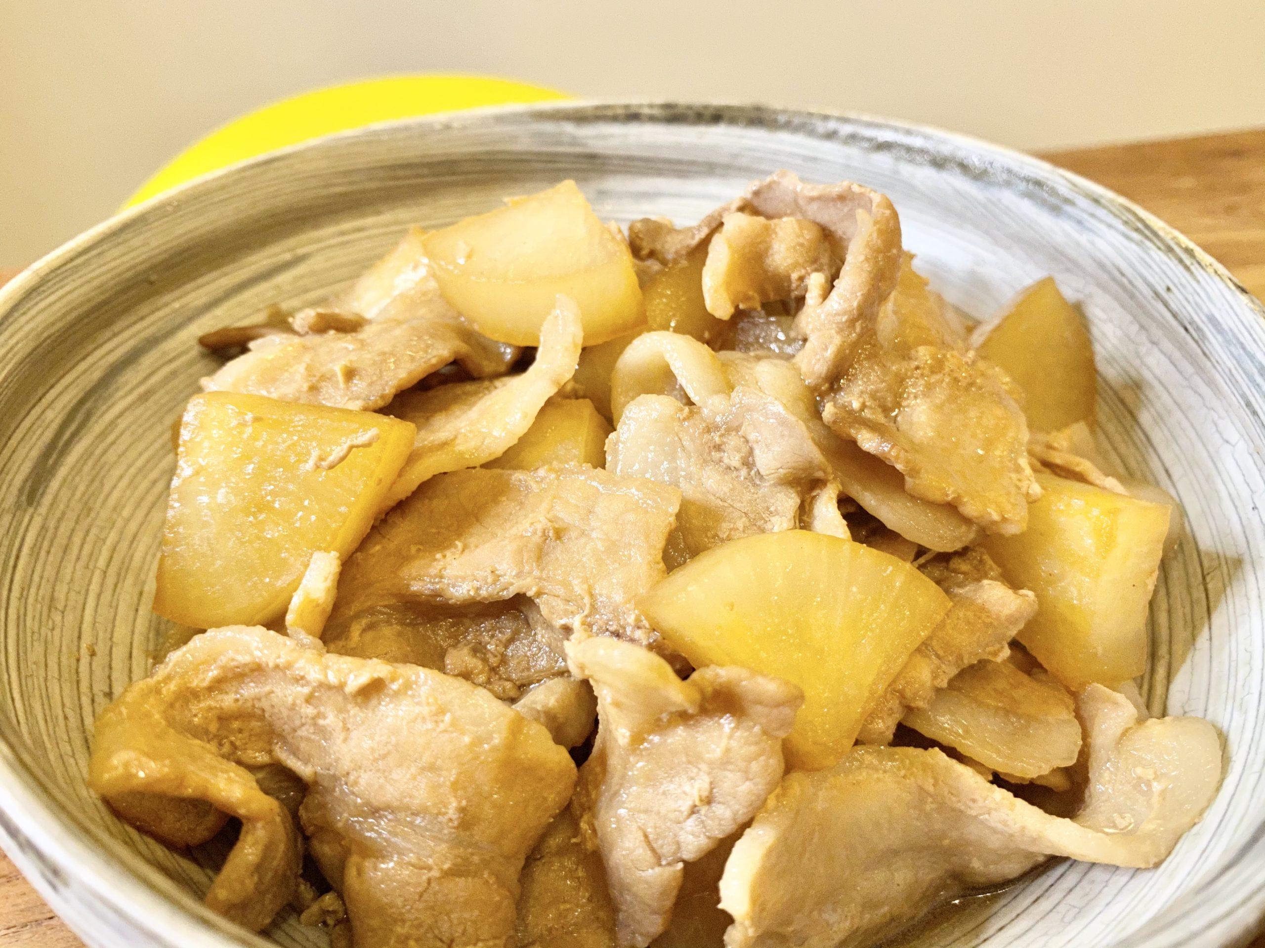 ご飯がススム!「豚バラ大根の酢醤油煮」のレシピ